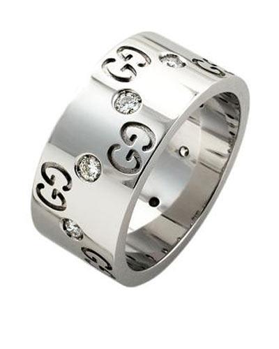 Gucci - Anillo de icono con diamantes