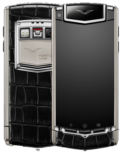 Vertu TI Black Alligator Office