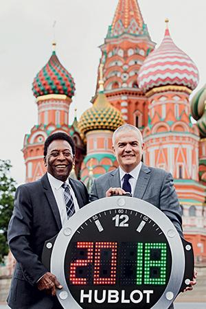 Pelé y Ricardo Guadalupe