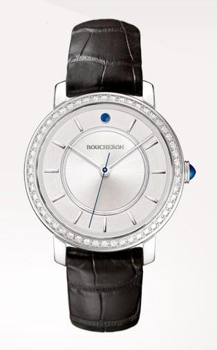 Epure - Reloj en oro blanco y diamantes, gemas y esfera de plata.