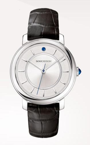Epure - Reloj en oro blanco, gemas y esfera de plata.