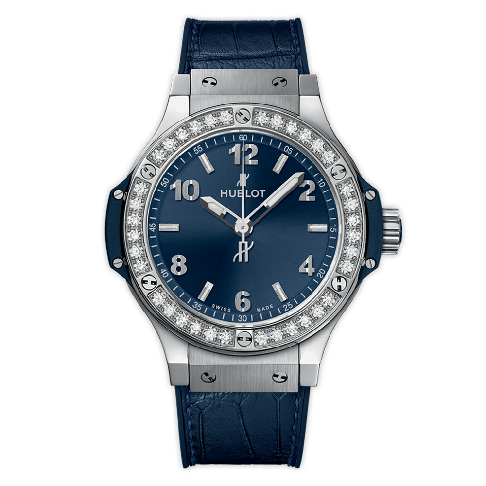 Hublot - Steel Blue Diamonds 38