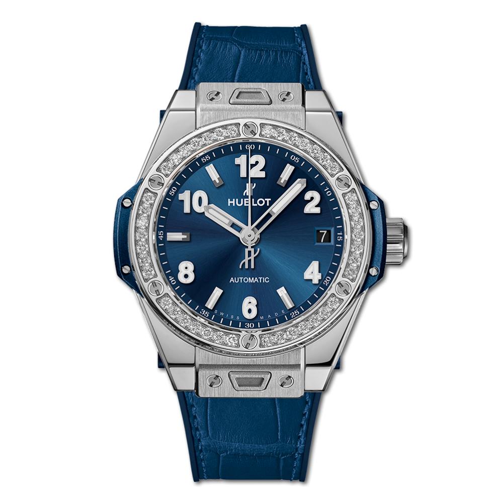 Hublot - One Click Steel Blue Diamonds 39