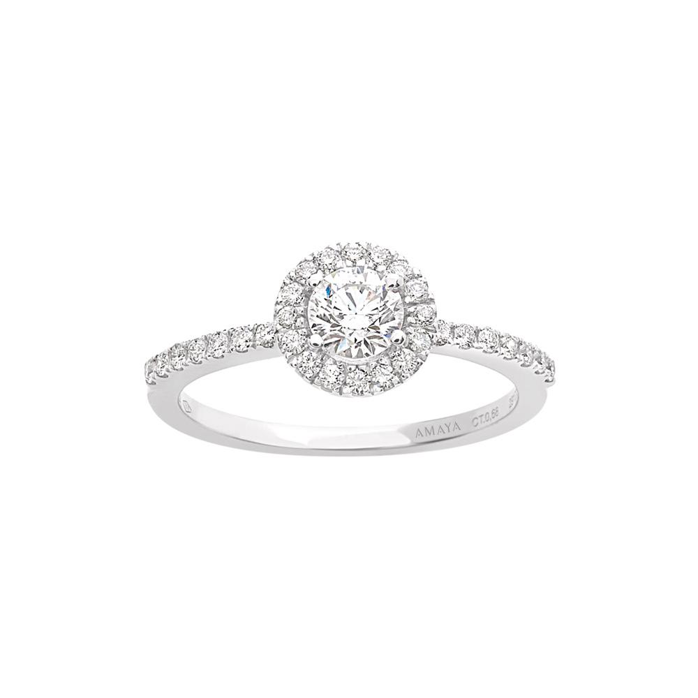 En AMAYA – Solitario de Compromiso con Diamantes - Amaya Joyeros, Joyas de Compromiso y Boda