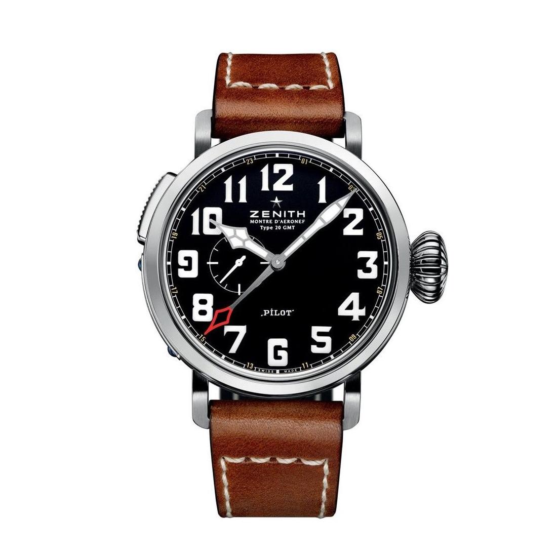 Reloj Zenith – Pilot Type 20 GMT Acciaio - Amaya Joyeros