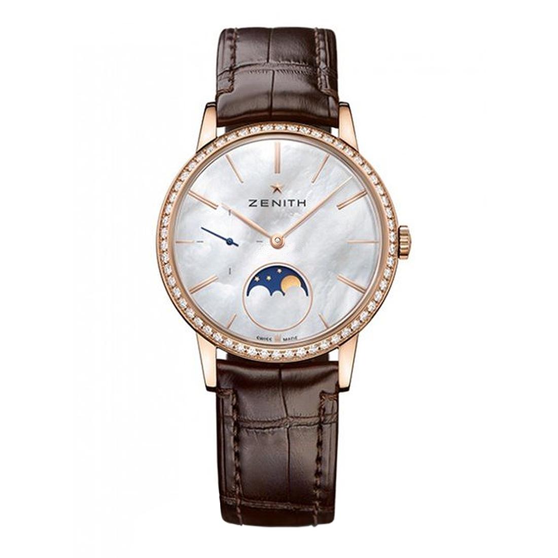 Reloj Zenith – Elite Lady Moonphase Rose Gold & Diamonds Ladies Watch - Amaya Joyeros