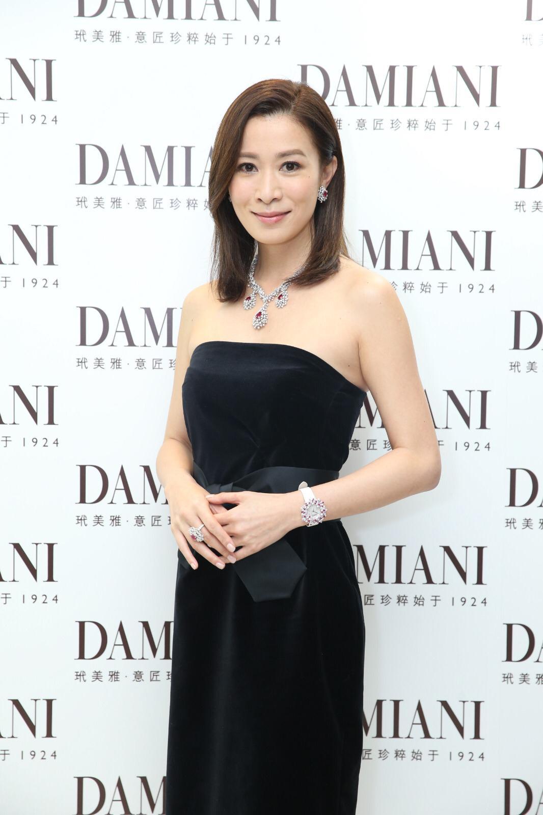 Charmaine Sheh en la inauguración boutique Damiani en Hong Kong